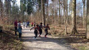 Flüchtlinge beim Lauftraining